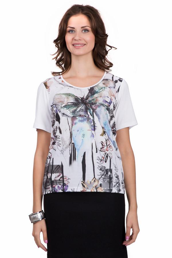 Футболка SteilmannФутболки<br>Оригинальная женская футболка Steilmann белого цвета с серыми, золотистыми, бежевыми и коричневыми деталями. Эта модель была сделана из эластана и вискозы. Данная модель предназначена для теплой летней погоды. Футболка свободного кроя. Дополнена ярким рисунком с серебристыми камнями. Хорошо смотрится с широкими юбками средней длины.<br><br>Размер RU: 46<br>Пол: Женский<br>Возраст: Взрослый<br>Материал: эластан 8%, вискоза 92%<br>Цвет: Разноцветный