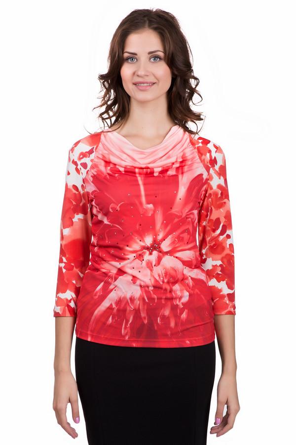 Блузa Betty BarclayБлузы<br>Оригинальная женская блуза от бренда Betty Barclay белого, красного и розового цветов. Модель была изготовлена из эластана и полиэстера. Изделие является демисезонным. Облегает фигуру. Рукава слегка укороченные. Блуза дополнена драпированным воротом. Украшена изображением цветка и маленькими серебристыми камнями на нем. Хорошо подойдет для праздничных мероприятий.<br><br>Размер RU: 46<br>Пол: Женский<br>Возраст: Взрослый<br>Материал: эластан 5%, полиэстер 95%<br>Цвет: Разноцветный