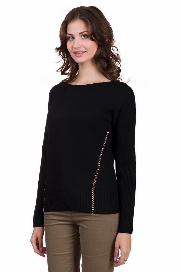 Пуловер Just ValeriПуловеры<br>Модный женский пуловер Just Valeri темного синего цвета с золотистыми элементами. Эта модель была сделана полностью из шерсти. Изделие является демисезонным. Пуловер свободного кроя. Рукава длинные. Дополнен вертикальными серебристыми вставками по бокам. Можно сочетать с объемным украшением на шею.<br><br>Размер RU: 46<br>Пол: Женский<br>Возраст: Взрослый<br>Материал: шерсть 100%<br>Цвет: Золотистый