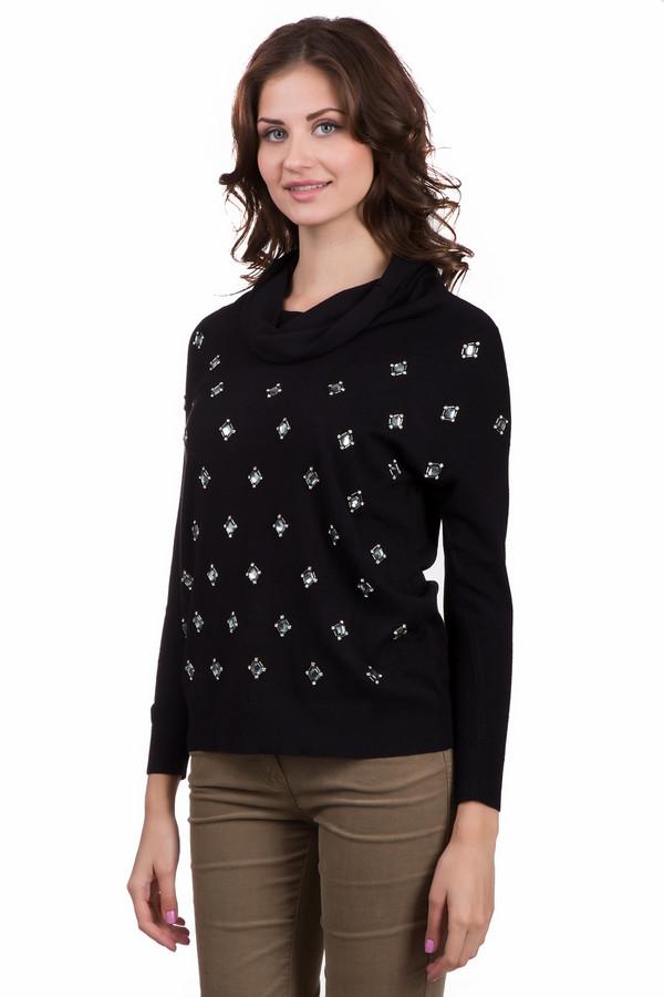 Пуловер Just ValeriПуловеры<br>Стильный женский пуловер Just Valeri черного цвета. Это изделие было выполнено из вискозы. Данная модель предназначена для демисезонного периода. Пуловер свободного кроя и с длинными рукавами. Дополнен крупными серебристыми камнями и объемным воротом. Отлично сочетается с классическими брюками и широкими юбками средней длины.<br><br>Размер RU: 42<br>Пол: Женский<br>Возраст: Взрослый<br>Материал: вискоза 100%<br>Цвет: Серебристый