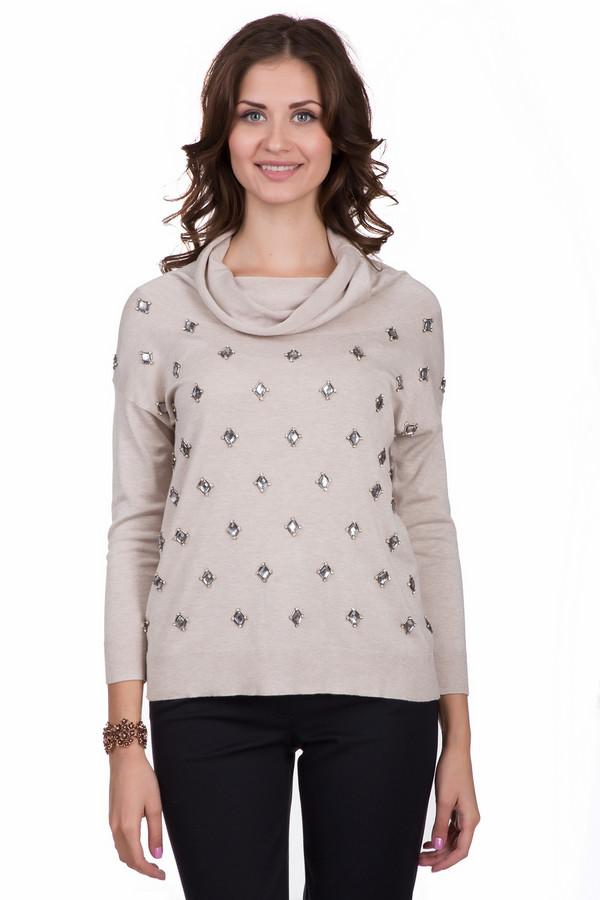 Пуловер Just ValeriПуловеры<br>Стильный женский пуловер Just Valeri бежевого цвета. Это изделие было выполнено из вискозы. Данная модель предназначена для демисезонного периода. Пуловер свободного кроя и с длинными рукавами. Дополнен крупными серебристыми камнями и объемным воротом. Отлично сочетается с классическими брюками и широкими юбками средней длины.<br><br>Размер RU: 50<br>Пол: Женский<br>Возраст: Взрослый<br>Материал: вискоза 100%<br>Цвет: Серебристый