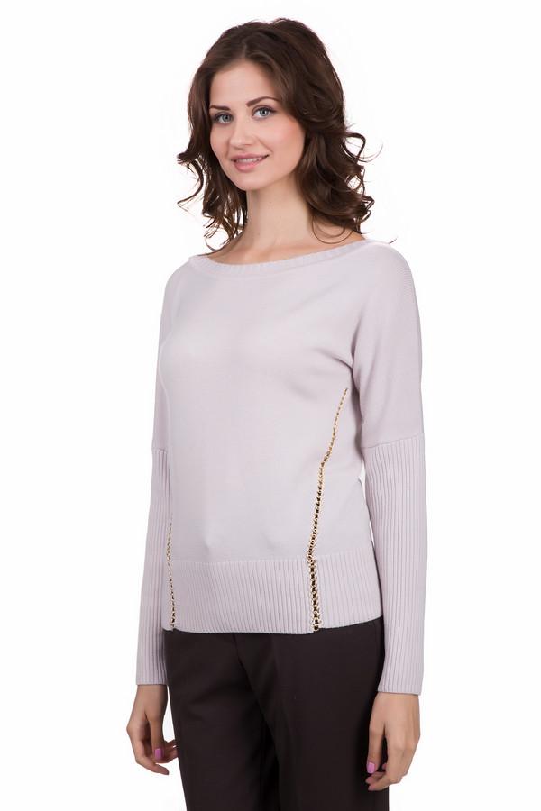 Пуловер Just ValeriПуловеры<br>Удобный женский пуловер Just Valeri розового цвета. Данное изделие было изготовлено из шерсти. Эта модель является демисезонной. Пуловер свободного кроя. Дополнен вертикальными из золотистых цепей по бокам. Можно сочетать с объемным украшением на шею с золотистыми элементами. Лучше всего смотрится с классическими брюками.<br><br>Размер RU: 46<br>Пол: Женский<br>Возраст: Взрослый<br>Материал: шерсть 100%<br>Цвет: Розовый