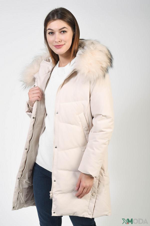 женское пальто bosideng, бежевое