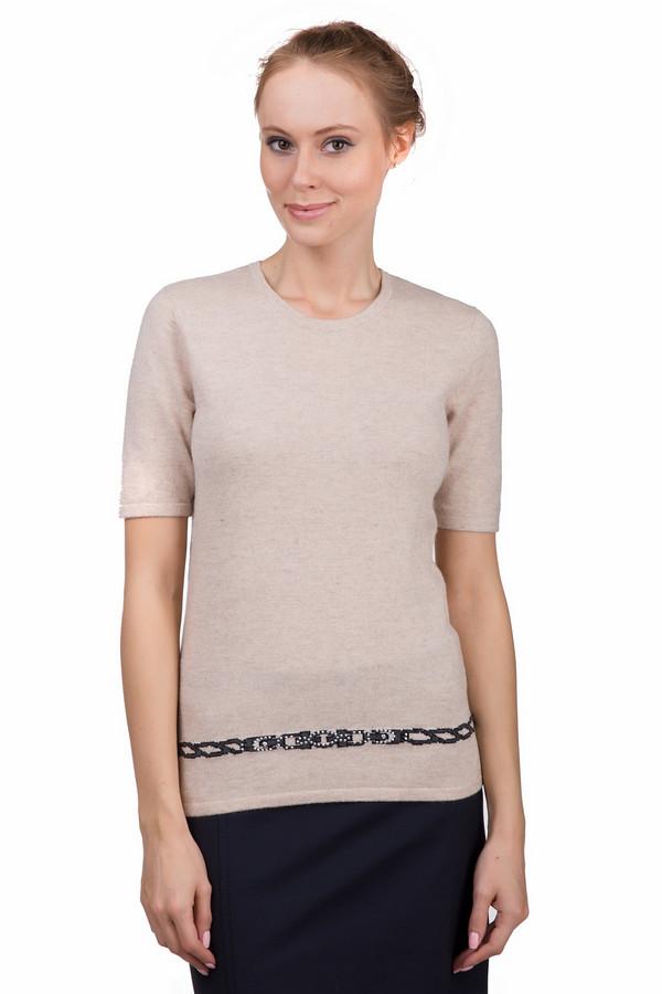 Пуловер Just ValeriПуловеры<br>Практичный женский пуловер Just Valeri бежевого цвета с чёрными, серыми и серебристыми деталями. Эта модель была сделана хлопка, вискозы, шерсти, кашемира и нейлона. Данное изделие предназначено для демисезонного периода. Пуловер сидит по фигуре и с укороченными рукавами. Дополнен черной деталью и маленькими серебристыми камнями снизу. Сочетается с разной одеждой.<br><br>Размер RU: 44<br>Пол: Женский<br>Возраст: Взрослый<br>Материал: хлопок 18%, вискоза 37%, шерсть 18%, кашемир 4%, нейлон 23%<br>Цвет: Разноцветный