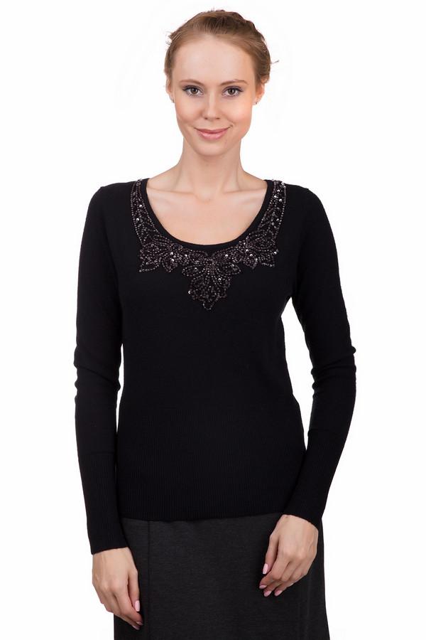 Пуловер Just ValeriПуловеры<br>Стильный женский пуловер Just Valeri черного цвета с серебристыми элементами. Это изделие было выполнено из хлопка, вискозы, шерсти, кашемира и нейлона. Данная модель предназначена для демисезонного периода. Пуловер сидит по фигуре и с длинными рукавами. Дополнен серебристыми камнями.<br><br>Размер RU: 42<br>Пол: Женский<br>Возраст: Взрослый<br>Материал: хлопок 18%, вискоза 37%, шерсть 18%, кашемир 4%, нейлон 23%<br>Цвет: Разноцветный