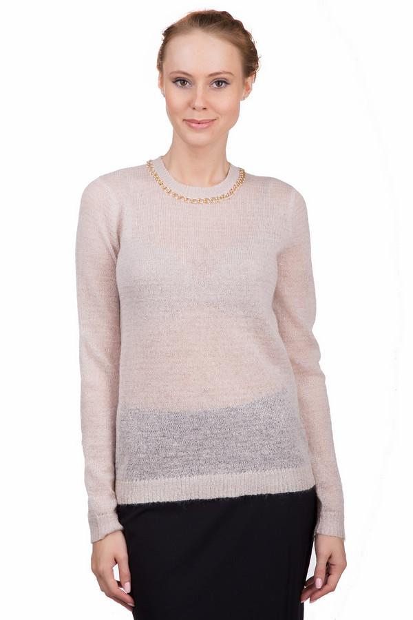 Пуловер Just ValeriПуловеры<br>Оригинальный женский пуловер Just Valeri нежно-розового цвета с люрексом. Это изделие было изготовлено из акрила, нейлона и мохера. Данная модель предназначена для зимнего периода. Пуловер свободного кроя и с длинными рукавами. Дополнен золотистой крупной цепью на вороте и маленьким вырезом сзади с застежкой на пуговицу. Подойдет для любого мероприятия.<br><br>Размер RU: 48<br>Пол: Женский<br>Возраст: Взрослый<br>Материал: акрил 30%, нейлон 40%, мохер 30%<br>Цвет: Розовый