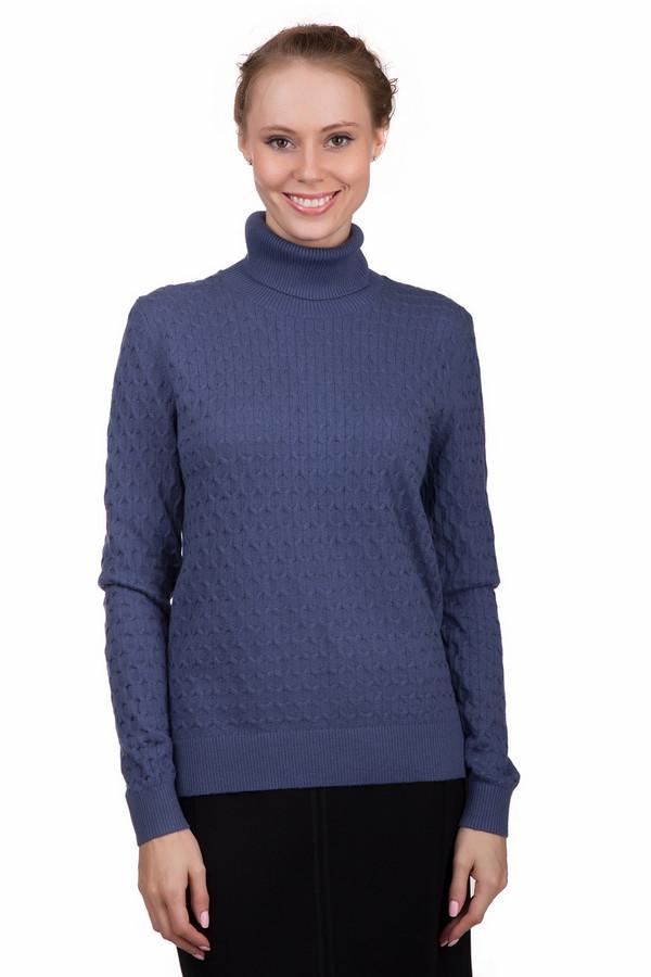 Пуловер PezzoПуловеры<br>Практичный женский пуловер Pezzo синего цвета. Данное изделие было выполнено из хлопка, ангоры, кашемира и нейлона. Эта модель предназначена для холодной зимней погоды. Пуловер свободного кроя, с длинными рукавами и длинным воротом. Дополнен интересной вязкой. Сочетается с темной одеждой. Практичное и стильное решение для зимы.<br><br>Размер RU: 50<br>Пол: Женский<br>Возраст: Взрослый<br>Материал: хлопок 55%, ангора 5%, кашемир 3%, нейлон 37%<br>Цвет: Синий