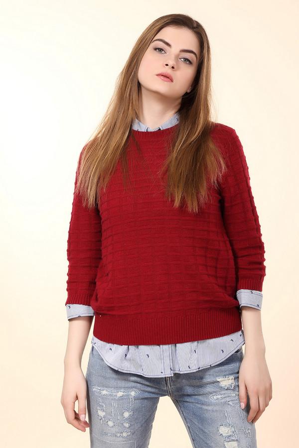 Пуловер PezzoПуловеры<br>Удобный женский пуловер Pezzo благородного винного оттенка. Это изделие было выполнено из вискозы, полиамида, шерсти, хлопка и кашемира. Данная модель предназначена для демисезонного периода. Пуловер свободного кроя и с укороченными рукавами. Дополнен резинкой на рукавах и снизу. Сочетается с одеждой разных расцветок. Лучше всего будет смотреться с классическими брюками.<br><br>Размер RU: 44<br>Пол: Женский<br>Возраст: Взрослый<br>Материал: вискоза 33%, полиамид 23%, шерсть 20%, хлопок 20%, кашемир 4%<br>Цвет: Красный