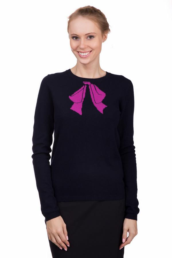 Пуловер PezzoПуловеры<br>Интересный женский пуловер Pezzo черного цвета с розовыми элементами. Это изделие было изготовлено из вискозы, полиамида, шерсти, хлопка и кашемира. Данная модель предназначена для зимнего периода. Пуловер свободного кроя и с длинными рукавами. Дополнен ярко-розовым вязанным рисунком банта возле ворота. Лучше всего будет смотреться с однотонной темной одеждой.<br><br>Размер RU: 50<br>Пол: Женский<br>Возраст: Взрослый<br>Материал: вискоза 33%, полиамид 23%, шерсть 20%, хлопок 20%, кашемир 4%<br>Цвет: Розовый