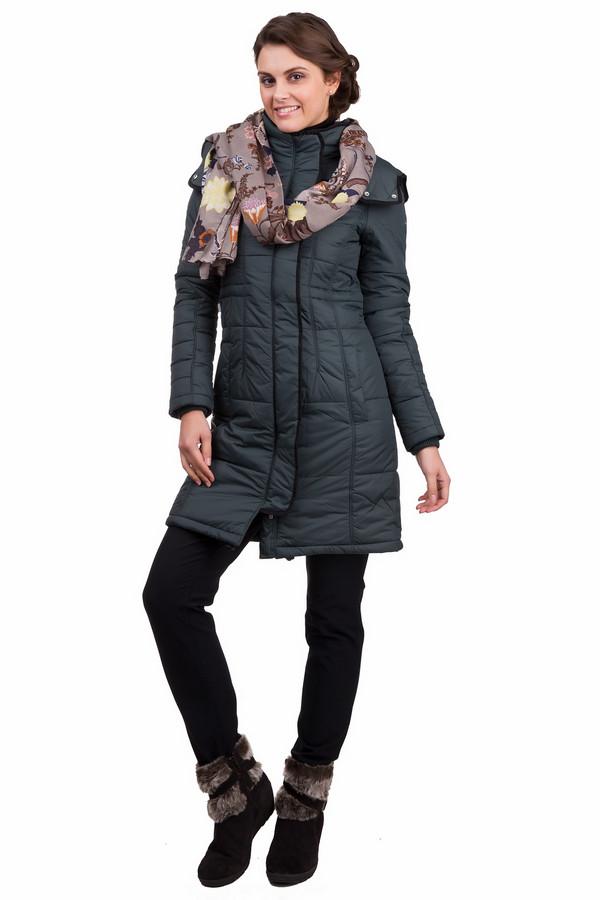 Пальто PezzoПальто<br>Практичное женское пальто Pezzo темного зеленого цвета с чёрными элементами. Эта модель была сделана из нейлона. Данное изделие предназначено для холодной зимней погоды. Пальто свободное и длинное. Дополнено капюшоном и карманами. Застегивается с помощью молнии и металлических кнопок. Отличный вариант на каждый день.<br><br>Размер RU: 46<br>Пол: Женский<br>Возраст: Взрослый<br>Материал: нейлон 100%<br>Цвет: Чёрный