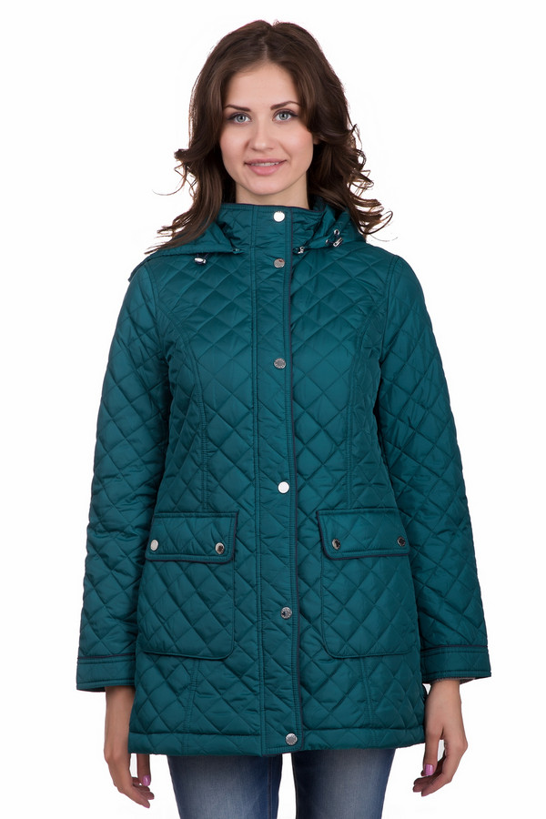 Куртка PezzoКуртки<br>Практичная женская куртка от бренда Pezzo зеленого цвета. Данное изделие было изготовлено из полиэстера. Эта модель является демисезонной. Куртка прикрывает бедра. Дополнена удобными боковыми карманами, капюшоном и строчками. Есть небольшой ремешок сзади. Стильное решение для холодной поры. Цвет изделие не оставит без внимания окружающих.<br><br>Размер RU: 42<br>Пол: Женский<br>Возраст: Взрослый<br>Материал: полиэстер 100%<br>Цвет: Зелёный