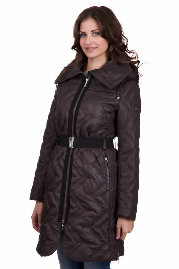 Пальто PezzoПальто<br>Модное женское пальто от бренда Pezzo коричневого цвета с черными деталями. Данная модель была сделана полностью из полиэстера. Такое изделие точно согреет в зимнюю погоду. По длине оно немного выше колена. Дополнено капюшоном сзади и широким пояском на талии. Застегивается н молнию. Практичное и в то же время стильное решение для зимы.<br><br>Размер RU: 50<br>Пол: Женский<br>Возраст: Взрослый<br>Материал: полиэстер 100%<br>Цвет: Чёрный