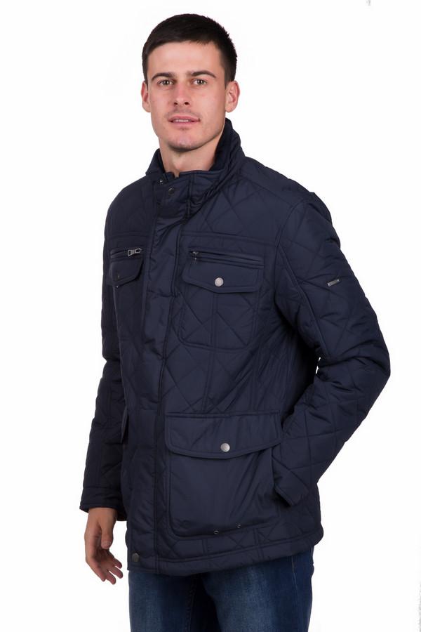 Куртка PezzoКуртки<br>Универсальная мужская куртка от бренда Pezzo черного цвета. Данное изделие было изготовлено из полиэстера. Эта модель предназначена для осени и весны. По длине куртка короткая. Дополнена стежками и удобными карманами на груди и по бокам. Застегивается на молнию и кнопки. Хорошее решение на каждый день. Легко сочетается с чем угодно.<br><br>Размер RU: 48<br>Пол: Мужской<br>Возраст: Взрослый<br>Материал: полиэстер 100%<br>Цвет: Синий