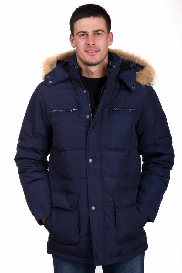 Куртка PezzoКуртки<br>Стильная мужская куртка от бренда Pezzo темного синего цвета. Данное изделие было изготовлено полностью из полиэстера. Эта модель была разработана специально для зимы. Куртка прикрывает бедра. Дополнена стежками и удобными карманами на груди и по бокам, капюшоном с мехом. Застегивается на молнию и кнопки. Теплое решение на холодную пору.<br><br>Размер RU: 54<br>Пол: Мужской<br>Возраст: Взрослый<br>Материал: полиэстер 100%<br>Цвет: Синий