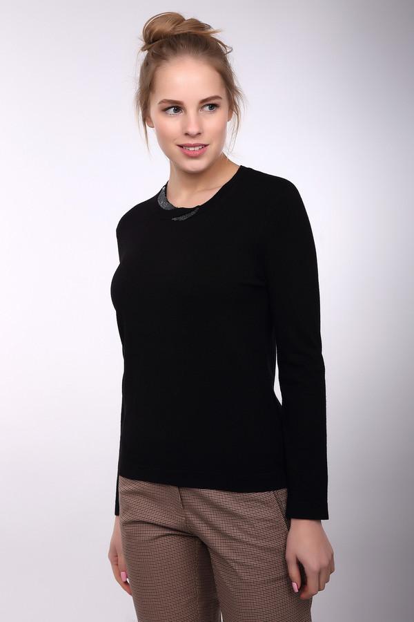 Пуловер PezzoПуловеры<br>Оригинальный женский пуловер Pezzo черного цвета. Эта модель выполнена из вискозы и нейлона. Данное изделие предназначено для демисезонного периода. Изделие дополнено круглым вырезом и длинными рукавами. Ворот украшен элементом выполненным из пайеток.<br><br>Размер RU: 46<br>Пол: Женский<br>Возраст: Взрослый<br>Материал: вискоза 80%, нейлон 20%<br>Цвет: Чёрный