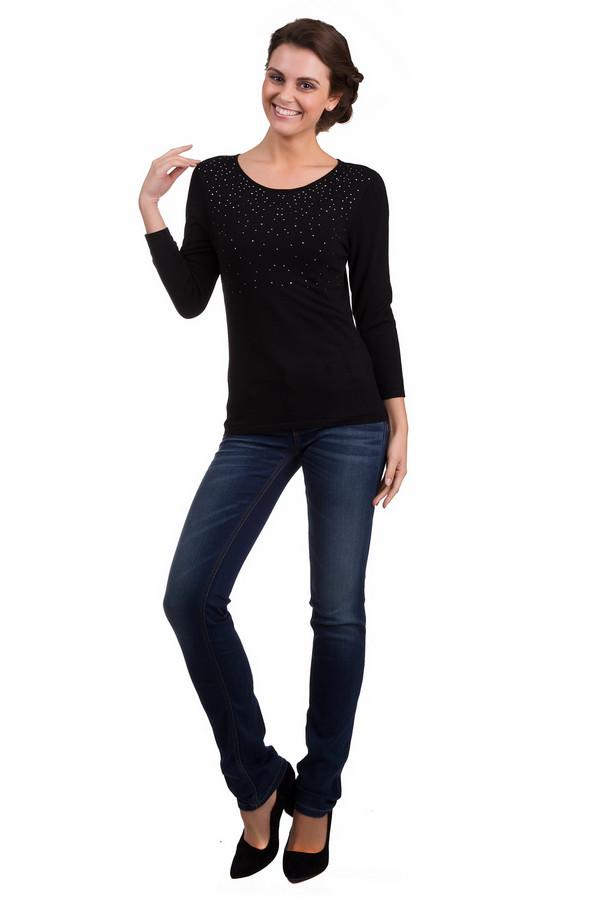 Пуловер PezzoПуловеры<br>Стильный женский пуловер Pezzo черного цвета с серебристыми элементами. Это изделие было сделано из вискозы и нейлона. Данная модель предназначена для демисезонного периода. Изделие дополнено воротником-лодочка и укороченными рукавами 3/4. Зона декольте декорирована маленькими серебристыми стразами. Прекрасно будет смотреться как с джинсами, так и с юбками.<br><br>Размер RU: 42<br>Пол: Женский<br>Возраст: Взрослый<br>Материал: вискоза 80%, нейлон 20%<br>Цвет: Серебристый