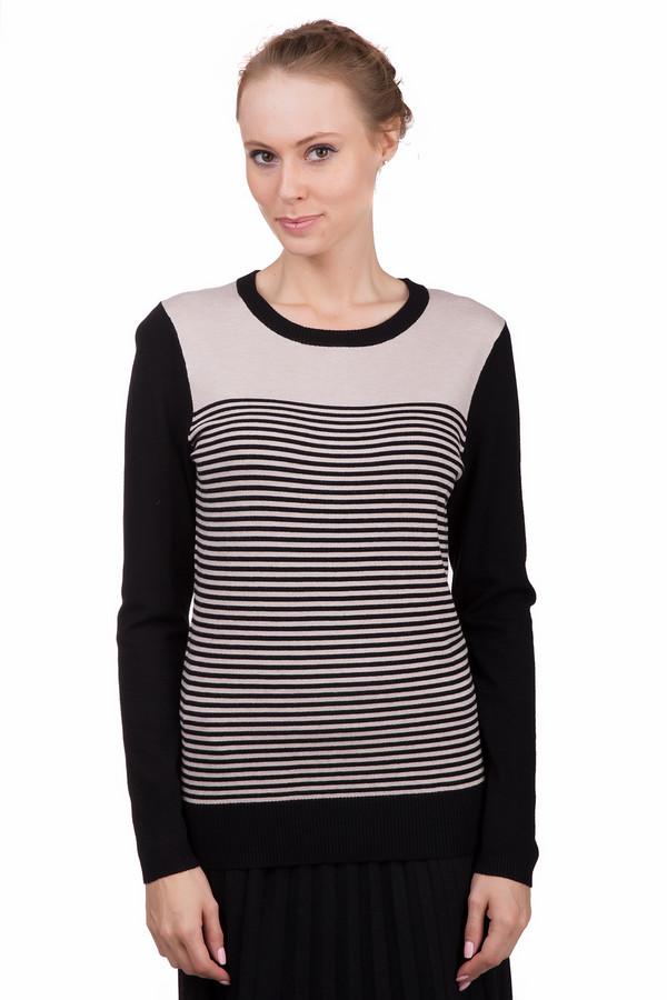 Пуловер PezzoПуловеры<br>Оригинальный женский пуловер Pezzo в бежево-черную полоску. Это изделие было выполнено из вискозы и нейлона. Данная модель предназначена для демисезонного периода. Пуловер свободного кроя и с длинными рукавами. Дополнен тонкими полосами. Сочетается с темной однотонной одеждой. Прекрасный вариант не каждый день.<br><br>Размер RU: 44<br>Пол: Женский<br>Возраст: Взрослый<br>Материал: вискоза 80%, нейлон 20%<br>Цвет: Чёрный