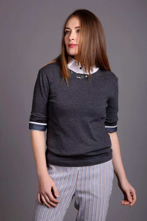 Пуловер PezzoПуловеры<br>Оригинальный женский пуловер Pezzo серого цвета. Эта модель выполнена из вискозы и нейлона. Данное изделие предназначено для демисезонного периода. Изделие дополнено круглым вырезом и длинными рукавами. Ворот украшен элементом выполненным из пайеток.<br><br>Размер RU: 52<br>Пол: Женский<br>Возраст: Взрослый<br>Материал: вискоза 80%, нейлон 20%<br>Цвет: Серебристый