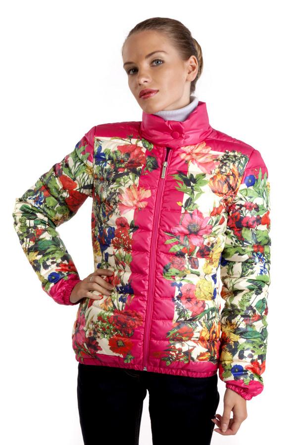 Куртка Just ValeriКуртки<br>Теплый пуховик Just Valeri с цветочным принтом несомненный тренд этого сезона. Пуховик настолько разнообразен и ярок, что позволит вам с удивительной легкостью выделиться и украсить пасмурные дни. Центральная часть изделия застегивается на молнию, воротник-стойка с застежкой - кнопка, два боковых кармана на скрытой молнии, манжеты на резинке. Изделие выполнено из высококачественного материала, приятного на ощупь.  Подкладка 100% полиэстер.   Утеплитель 90% утиный пух, 10% утиное перо.<br><br>Размер RU: 42<br>Пол: Женский<br>Возраст: Взрослый<br>Материал: нейлон 100%<br>Цвет: Разноцветный