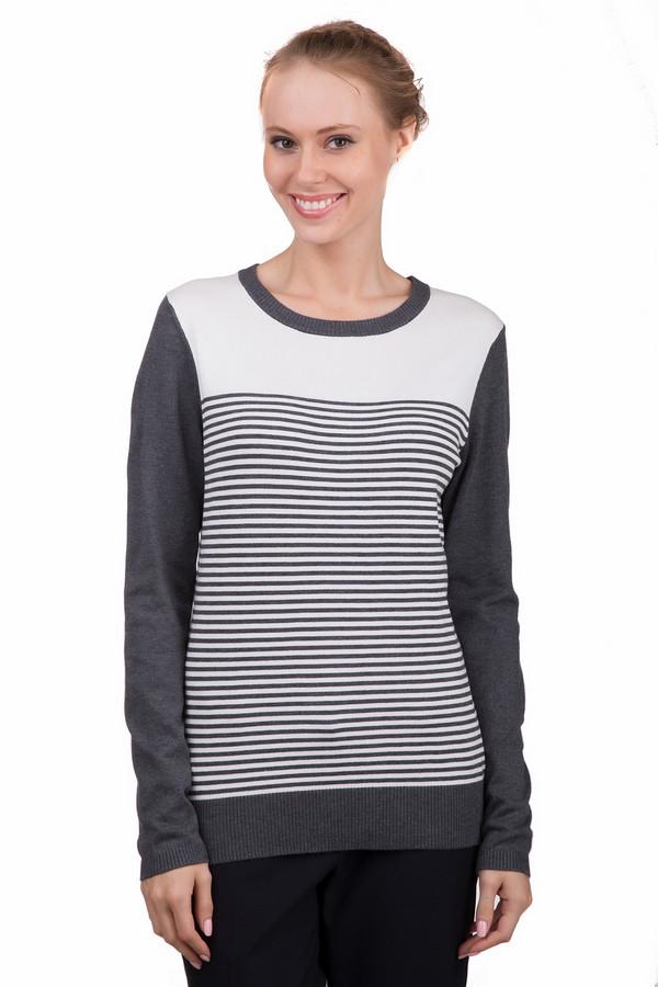 Пуловер PezzoПуловеры<br>Оригинальный женский пуловер Pezzo в серо-белую полоску. Это изделие было выполнено из вискозы и нейлона. Данная модель предназначена для демисезонного периода. Пуловер свободного кроя и с длинными рукавами. Дополнен тонкими полосами. Сочетается с темной однотонной одеждой. Прекрасный вариант не каждый день.<br><br>Размер RU: 54<br>Пол: Женский<br>Возраст: Взрослый<br>Материал: вискоза 80%, нейлон 20%<br>Цвет: Белый