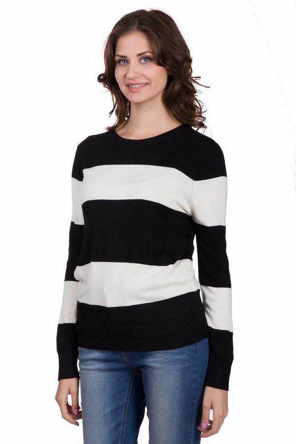 Джемпер LocustДжемперы<br>Практичный женский джемпер Locust в черно-белую полоску. Эта модель была сделана из нейлона, вискозы и ангоры. Изделие предназначено для осени и весны. Джемпер свободного кроя. Дополнен широкими горизонтальными полосами. Сочетается как с джинсами, так и с юбками. Может быть базой для праздничного образа.<br><br>Размер RU: 52-54<br>Пол: Женский<br>Возраст: Взрослый<br>Материал: нейлон 30%, вискоза 65%, ангора 5%<br>Цвет: Белый