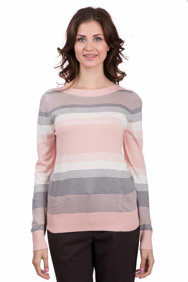 Джемпер LocustДжемперы<br>Стильный женский джемпер Locust розового цвета с белыми и серыми деталями. Это изделие было выполнено из нейлона, вискозы и ангоры. Данное изделие является демисезонным. Джемпер сидит по фигуре. Дополнен воротом и полосатым рисунком. Оптимальный вариант на каждый день. Придаст повседневному образу нежности и легкости.<br><br>Размер RU: 40-42<br>Пол: Женский<br>Возраст: Взрослый<br>Материал: нейлон 30%, вискоза 65%, ангора 5%<br>Цвет: Разноцветный