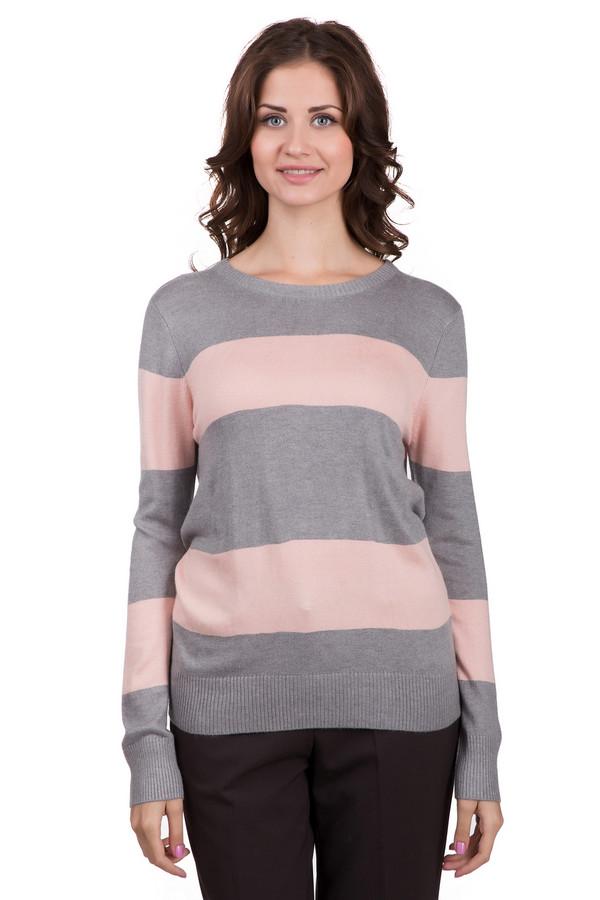 Джемпер LocustДжемперы<br>Модный женский джемпер Locust в серо-розовую полоску. Данная модель была сделана из нейлона, вискозы и ангоры. Такое изделие создано для осени и весны. Джемпер свободного кроя. Дополнен широкими горизонтальными полосами. Сочетается с разной одеждой. Добавит образу нежности и легкости. Можно носить со светлыми брюками.<br><br>Размер RU: 44-46<br>Пол: Женский<br>Возраст: Взрослый<br>Материал: нейлон 30%, вискоза 65%, ангора 5%<br>Цвет: Розовый
