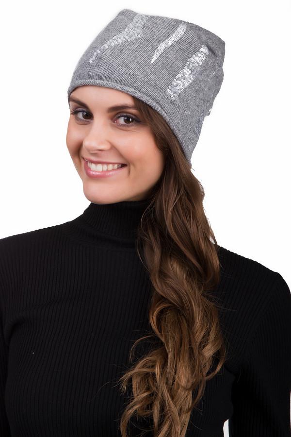 Шапка SeebergerШапки<br>Стильная женская шапка Seeberger серого цвета с серебристыми деталями. Это изделие было выполнено из кашемира, полиамида, вискозы и шерсти. Данная модель предназначена для холодной зимней погоды. Шапка дополнены узорами из пайеток. Такой головной убор добавит яркости в повседневный образ.<br><br>Размер RU: один размер<br>Пол: Женский<br>Возраст: Взрослый<br>Материал: кашемир 10%, полиамид 20%, вискоза 30%, шерсть 40%<br>Цвет: Разноцветный