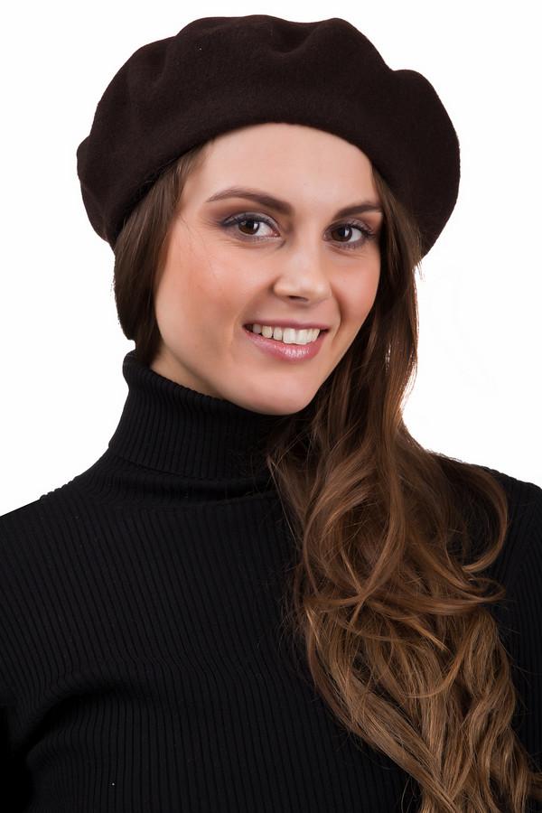 Берет SeebergerБереты<br>Стильный женский берет Seeberger коричневого цвета. Это изделие было выполнено из шерсти. Данная модель предназначена для демисезонного периода. Головной убор можно сочетать с одеждой разных цветов и фактур. Лучше всего будет смотреться с классическими пальто. Такой аксессуар является стильным и практичным решением для первых холодов.<br><br>Размер RU: один размер<br>Пол: Женский<br>Возраст: Взрослый<br>Материал: шерсть 100%<br>Цвет: Коричневый