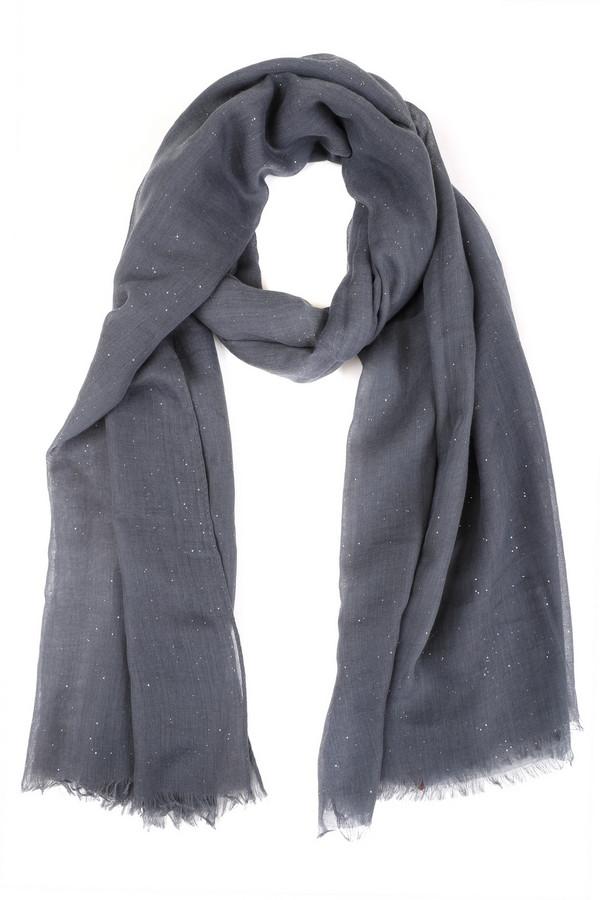 Шарф PassigattiШарфы<br>Практичный женский шарф Passigatti серого цвета с серебристыми деталями. Это изделие было выполнено из полиэстера. Данная модель предназначена для демисезонного периода. Аксессуар дополнен серебристыми мелкими камнями. Отлично впишется в любой повседневный образ. Хорошо смотрится как с разноцветными, так и с однотонными вещами.<br><br>Размер RU: один размер<br>Пол: Женский<br>Возраст: Взрослый<br>Материал: полиэстер 100%<br>Цвет: Серебристый
