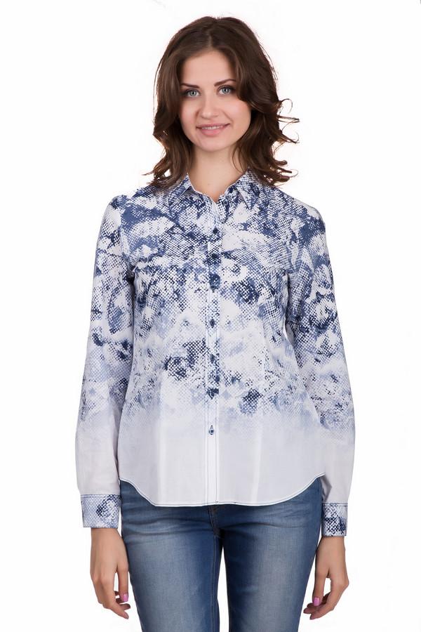 Блузa ErfoБлузы<br>Оригинальная женская блуза Erfo белого цвета с синими элементами. Эта модель была сделана из натурального хлопка. Такое изделие создано для осени и весны. Блуза свободного кроя. Дополнена интересным рисунком синего цвета на белом фоне. Идеально подойдет для любых праздничных мероприятий. Можно носить навыпуск или в заправленном виде.<br><br>Размер RU: 44<br>Пол: Женский<br>Возраст: Взрослый<br>Материал: хлопок 100%<br>Цвет: Синий