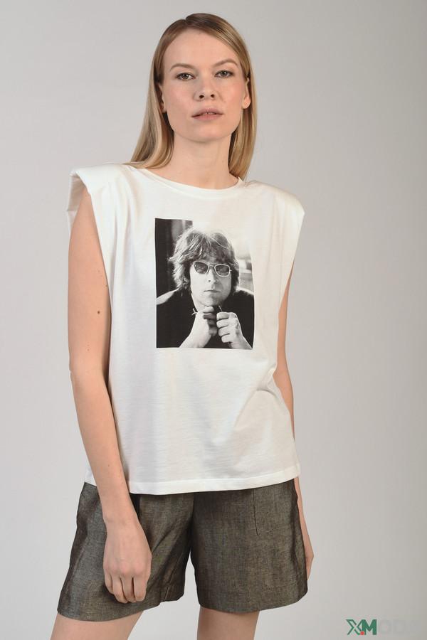 женская футболка kaos, белая