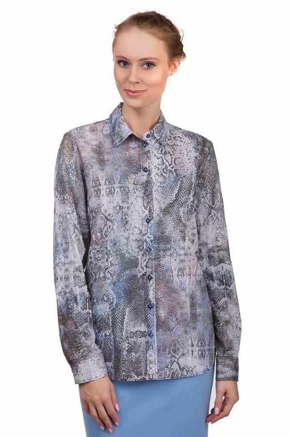 Блузa ErfoБлузы<br>Оригинальная женская блуза Erfo бежевого цвета с чёрными, бордовыми, оранжевыми, коричневыми, голубыми и синими деталями. Это изделие было выполнено из натурального хлопка. Данная модель предназначена для демисезонного периода. Блуза свободного кроя и с длинными рукавами. Дополнена рисунком имитирующим змеиную кожу и пуговицами. Можно носить навыпуск и в заправленном виде.<br><br>Размер RU: 46<br>Пол: Женский<br>Возраст: Взрослый<br>Материал: хлопок 100%<br>Цвет: Разноцветный
