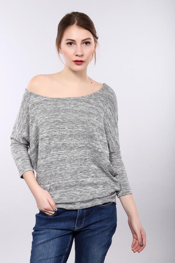 Пуловер MonariПуловеры<br>Практичный женский пуловер Monari серого цвета. Это изделие было изготовлено из эластана, вискозы и металла. Данная модель предназначена для демисезонного периода. Пуловер свободного кроя и с укороченными. Изделие выполнено по форме летучей мыши. Задняя часть длиннее передней. Хорошо сочетается как с юбками, так и с брюками.