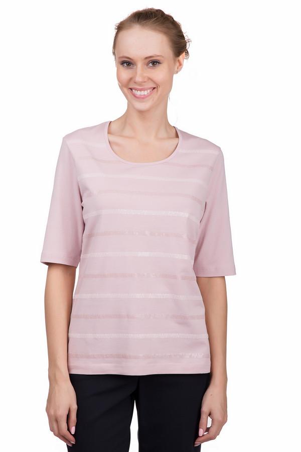 Футболка Gerry WeberФутболки<br>Практичная женская футболка Gerry Weber розового цвета. Это изделие было выполнено из эластана, хлопка, модала. Модель предназначена для теплой погоды. Футболка свободного кроя и с удлиненными рукавами. Дополнена вставками из розовых полупрозрачных пайеток. Можно сочетать с однотонными и разноцветными вещами. Лучше всего будет смотреться в заправленном виде с юбкой.<br><br>Размер RU: 50<br>Пол: Женский<br>Возраст: Взрослый<br>Материал: эластан 6%, хлопок 47%, модал 47%<br>Цвет: Розовый