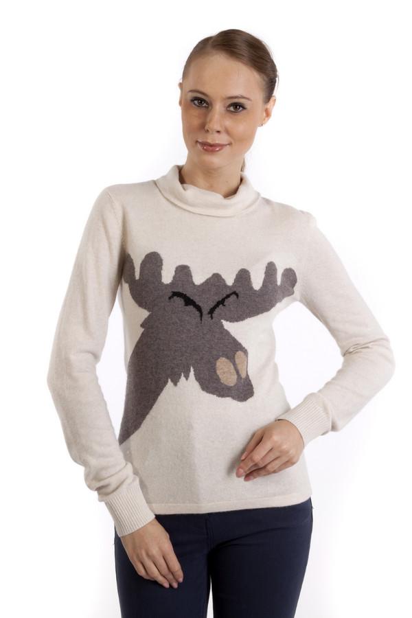 Пуловер Just ValeriПуловеры<br>Оригинальный бежевый пуловер Just Valeri приталенного фасона. Изделие дополнено: модным вывязанным рисунком в виде лося, воротником под горло и длинными рукавами с трикотажными манжетами.<br><br>Размер RU: 52<br>Пол: Женский<br>Возраст: Взрослый<br>Материал: вискоза 33%, хлопок 18%, шерсть 18%, кашемир 4%, нейлон 23%, ангора 4%<br>Цвет: Бежевый