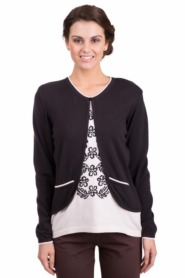 Пуловер Eugen KleinПуловеры<br>Необычный женский пуловер Eugen Klein черного и белого цвета. Изделие изготовлено из эластана, полиакрила и модала. Весной и осенью в нем будет комфортнее всего. Модель представляет собой псевдо сочетание двух одежд: черного кардигана и белой футболки, украшенной черными цветами. Подчеркнет женственные изгибы фигуры.<br><br>Размер RU: 52<br>Пол: Женский<br>Возраст: Взрослый<br>Материал: эластан 14%, полиакрил 40%, модал 46%<br>Цвет: Белый