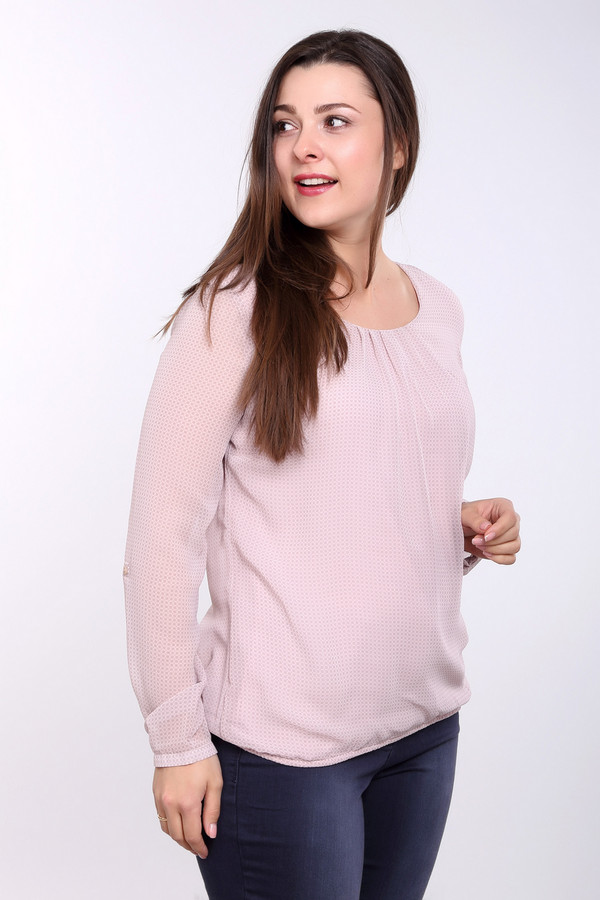 Блузa Betty BarclayБлузы<br>Легкая женская блуза Betty Barclay розового цвета. Это изделие было выполнено из полиэстера. Данная модель предназначена для демисезонного периода. Блуза свободного кроя. Дополнена резинкой снизу и на рукавах, складках на вороте. Отлично сочетается со светлыми однотонными вещами. Можно надеть на любой праздник в сочетании с элегантными украшениями.<br><br>Размер RU: 48<br>Пол: Женский<br>Возраст: Взрослый<br>Материал: полиэстер 100%<br>Цвет: Розовый
