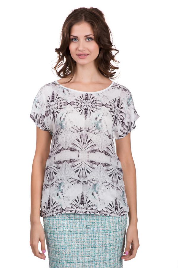 Блузa Betty BarclayБлузы<br>Стильная женская блуза от бренда Betty Barclay белого цвета с черными и серыми элементами. Эта модель была сделана полностью из вискозы. Изделие предназначено для теплой летней погоды. Блуза свободного кроя. Рукава сильно укорочены. Дополнена красивым серым орнаментом. Идеальный вариант для праздничных мероприятий.<br><br>Размер RU: 52<br>Пол: Женский<br>Возраст: Взрослый<br>Материал: вискоза 100%<br>Цвет: Разноцветный