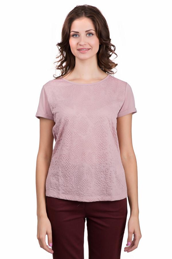 Футболка Betty BarclayФутболки<br>Романтичная женская футболка от бренда Betty Barclay розового цвета. Эта модель была сделана из полиэстера. Изделие создано для теплой летней погоды. Футболка свободного кроя. Дополнена рельефным орнаментом и не большим разрезом сзади. Хорошо будет сочетаться как с юбками, так и с брюками. Стильная вещь для вечеринки.<br><br>Размер RU: 44<br>Пол: Женский<br>Возраст: Взрослый<br>Материал: полиэстер 100%<br>Цвет: Розовый