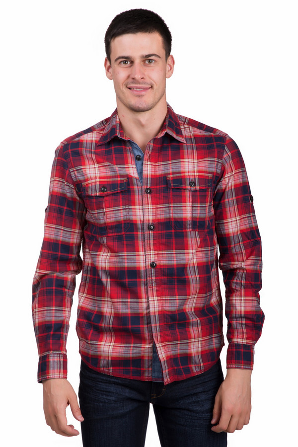 Рубашка с длинным рукавом s.OliverДлинный рукав<br>Стильная мужская рубашка s.Oliver красного, бежевого, голубого и синего цветов. Это изделие было выполнено из стопроцентного хлопка. Данная модель предназначена для демисезонного периода. Рубашка свободного кроя. Дополнена крупным клеточным рисунком и джинсовыми вставками. Застегивается с помощью маленьких бежевых пуговиц. Стильное решение для любого повода.<br><br>Размер RU: 46-48<br>Пол: Мужской<br>Возраст: Взрослый<br>Материал: хлопок 100%<br>Цвет: Разноцветный