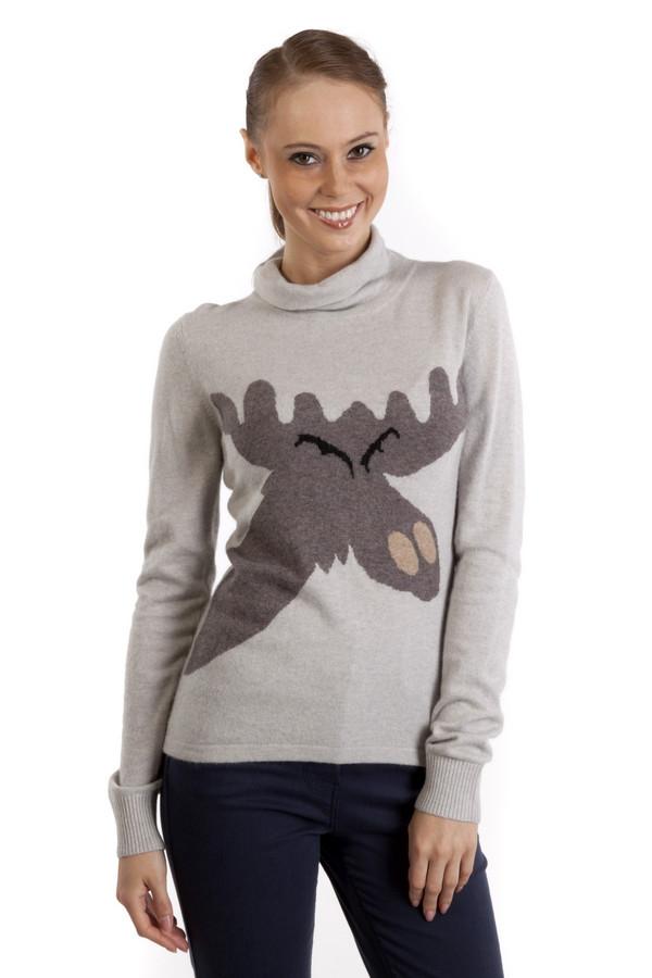 Пуловер Just ValeriПуловеры<br>Стильный женский пуловер Just Valeri светло-серого цвета. Это изделие состоит из смесовой пряжи теплой и приятной на ощупь. Пуловер декорирован вязанным рисунком в виде забавной мордочки лося. Модель предназначена для демисезонного периода. Отлично будет сочетаться с узкими брюками или юбками.<br><br>Размер RU: 50<br>Пол: Женский<br>Возраст: Взрослый<br>Материал: вискоза 33%, хлопок 18%, шерсть 18%, кашемир 4%, нейлон 23%, ангора 4%<br>Цвет: Серый