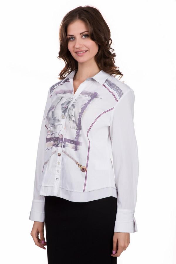 Блузa SE StenauБлузы<br>Интересная женская блуза SE Stenau белого цвета с серыми, бежевыми и фиолетовыми элементами. Изделие состоит из полиэстера и хлопка. Такая модель создана для весны или осени. Блузка не облегает фигуру. Дополнена ярким рисунком по центру и манжетами на рукавах. Отличный вариант для праздничного мероприятия.<br><br>Размер RU: 48<br>Пол: Женский<br>Возраст: Взрослый<br>Материал: хлопок 35%, полиэстер 65%<br>Цвет: Разноцветный
