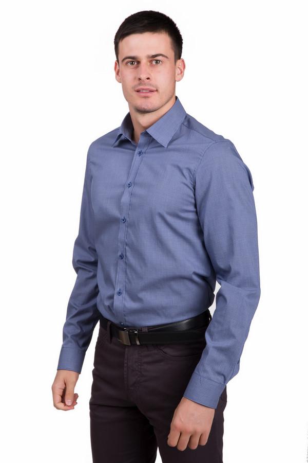 Рубашка с длинным рукавом VentiДлинный рукав<br>Строгая мужская рубашка с длинным рукавом Venti синего цвета. Модель полностью изготовлена из хлопка. Рассчитана на носку весной и осенью. Длинные рукава дополнены широкими манжетами на пуговицах. Застегивается спереди на аккуратные синие пуговицы. Горловину украшает отложной воротничок.<br><br>Размер RU: 40<br>Пол: Мужской<br>Возраст: Взрослый<br>Материал: хлопок 100%<br>Цвет: Синий