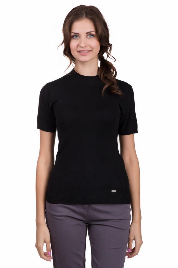 Пуловер SteilmannПуловеры<br>Модный женский пуловер Steilmann черного цвета. Это изделие состоит из вискозы и полиамида. Данная модель предназначена для осени или весны. Пуловер сидит по фигуре. Рукава короткие. Такая вещь отлично сочетается с одеждой разных расцветок. Также ее можно красиво обыграть с объемным украшением на шею.<br><br>Размер RU: 46<br>Пол: Женский<br>Возраст: Взрослый<br>Материал: полиамид 20%, вискоза 80%<br>Цвет: Чёрный