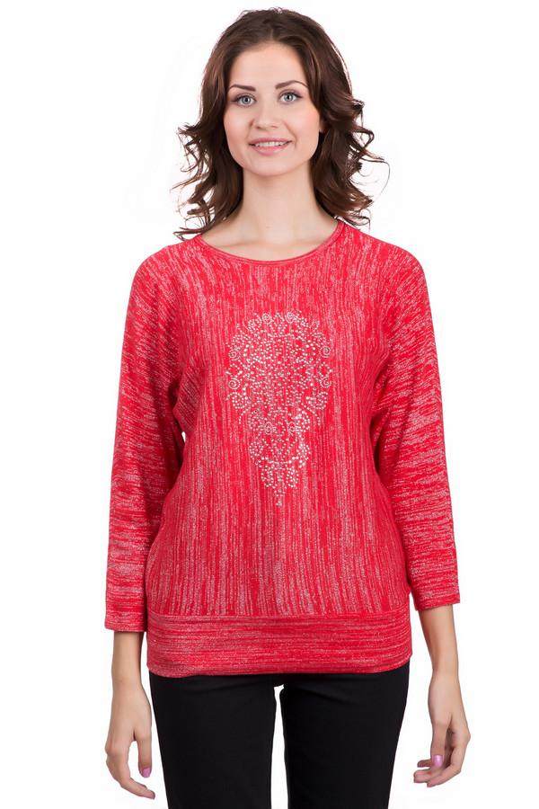 Пуловер LebekПуловеры<br>Яркий женский пуловер Lebek красного цвета с серебристыми элементами. Изделие было изготовлено из вискозы, полиамида, хлопка, шерсти и полиэстера. Эта модель предназначена для осеннего и весеннего сезонов. Пуловер свободного кроя. У него слегка укороченные рукава. Украшен рисунком из серебристых камней по центру.<br><br>Размер RU: 50<br>Пол: Женский<br>Возраст: Взрослый<br>Материал: вискоза 29%, хлопок 17%, полиэстер 17%, полиамид 29%, шерсть 8%<br>Цвет: Серебристый