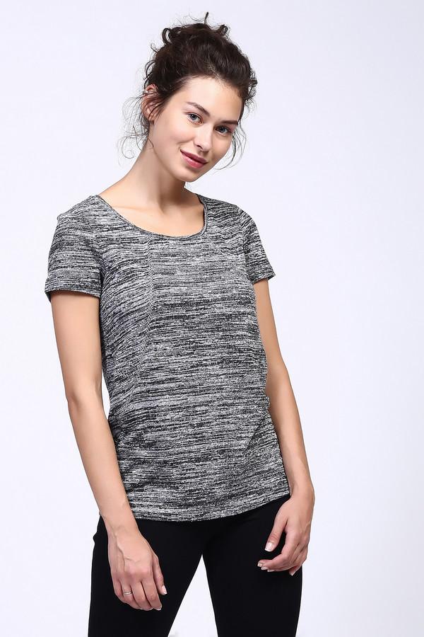 Футболка OuiФутболки<br>Практичная женская футболка Oui чёрного, серого и белого цветов. Это изделие состоит из полиэстера. Такую вещь нужно носить в теплую летнюю погоду. Футболка свободного кроя. Дополнена мелкими разноцветными вкраплениями. Можно носить с одеждой разнообразных расцветок и фасонов. Придаст образу легкости.<br><br>Размер RU: 48<br>Пол: Женский<br>Возраст: Взрослый<br>Материал: полиэстер 100%<br>Цвет: Разноцветный