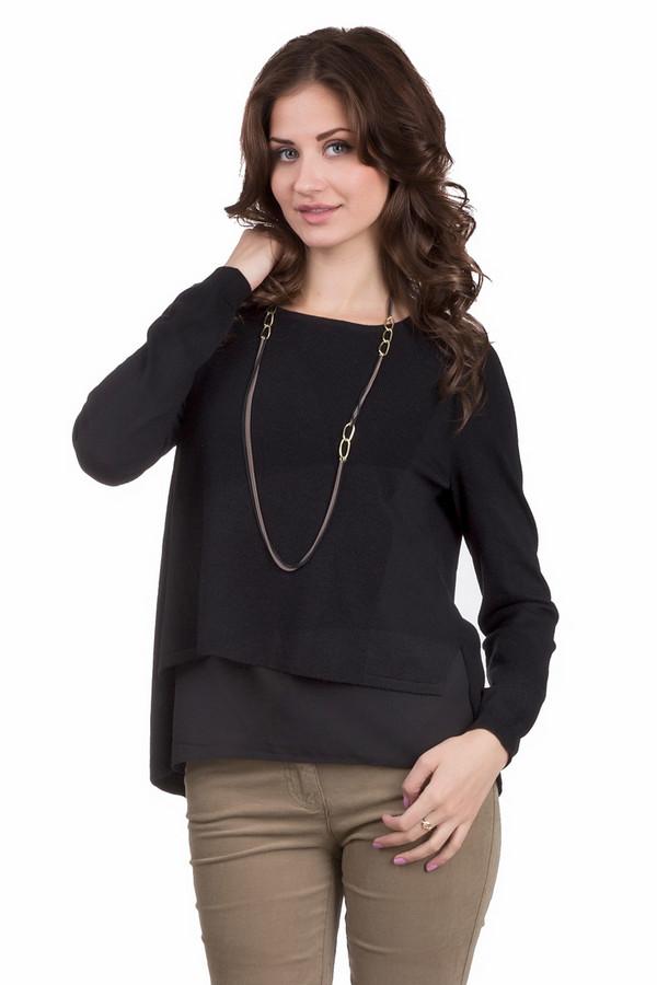 Пуловер OuiПуловеры<br>Классический женский пуловер Oui черного цвета. Это изделие состоит из полиамида, вискозы, шерсти и полиэстера. Модель создана для осени или весны. Пуловер свободного кроя. Можно носить с одеждой разных расцветок и стилей. Легко подбирать аксессуары. Подойдет тем, кому по душе простота в одежде.<br><br>Размер RU: 46<br>Пол: Женский<br>Возраст: Взрослый<br>Материал: вискоза 25%, шерсть 25%, полиэстер 20%, полиамид 30%<br>Цвет: Чёрный