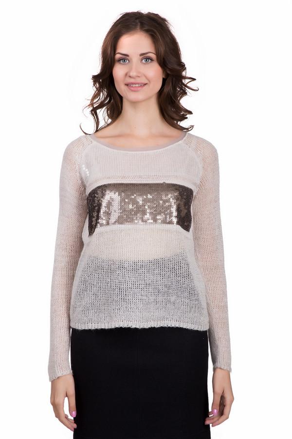 Пуловер TaifunПуловеры<br>Оригинальный женский пуловер Taifun бежевого цвета с золотистыми деталями. Это изделие состоит из полиакрила, полиэстера и шерсти. Такая вещь предназначена для холодной зимней погоды. Пуловер свободного кроя. Украшен золотистой вставкой из маленьких пайеток на груди. Стильный вариант для вечеринки.<br><br>Размер RU: 48<br>Пол: Женский<br>Возраст: Взрослый<br>Материал: полиакрил 75%, шерсть 13%, полиэстер 12%<br>Цвет: Золотистый