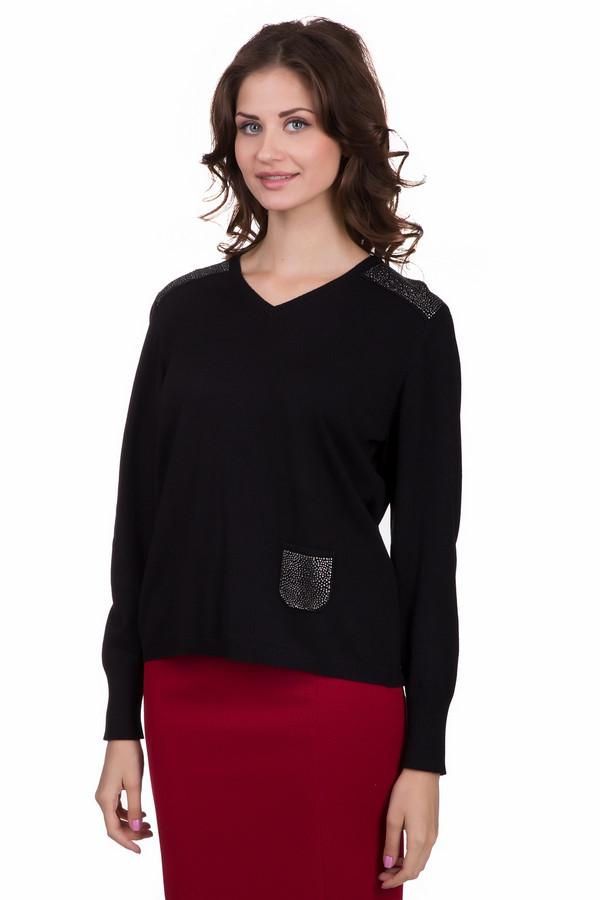 Пуловер Rabe collectionПуловеры<br>Практичный женский пуловер Rabe collection черного цвета с серебристыми элементами. Это изделие состоит из вискозы и полиамида. Данная модель предназначена для осени или весны. Пуловер свободного кроя. Украшен сбоку кармашком с серебристыми камнями. Спинка длиннее передней части. В сочетании с ярким низом, подойдет для похода на праздник.<br><br>Размер RU: 56<br>Пол: Женский<br>Возраст: Взрослый<br>Материал: вискоза 70%, полиамид 30%<br>Цвет: Серебристый